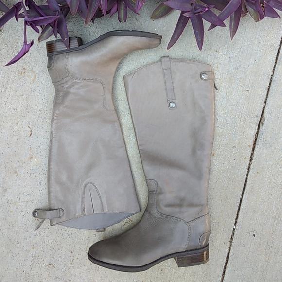 0dec45654a9ee8 Sam Edelman Penny tall grey leather riding boots. M 5b6367952e1478fde42ca320